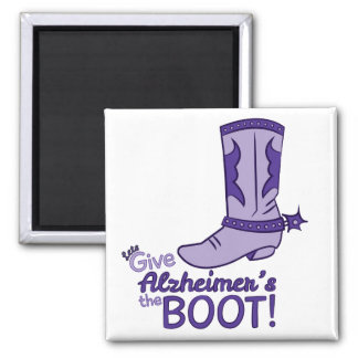 Let's Give Alzheimer's the Boot Magnet