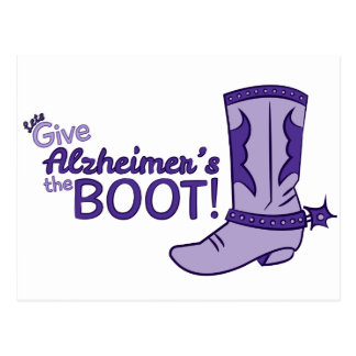 Let's Give Alzheimer's the Boot Postcard
