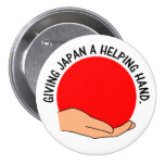 Let's Give Japan a Helping Hand Buttons