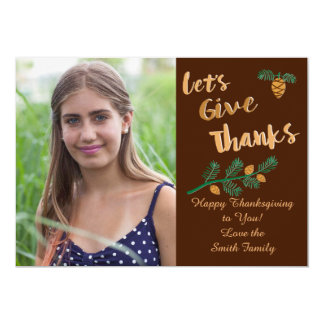 Let's Give Thanks Card