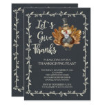 Let's Give Thanks Turkey Thanksgiving Dinner Card