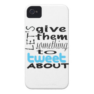 Let's give them something to tweet about Case-Mate iPhone 4 case
