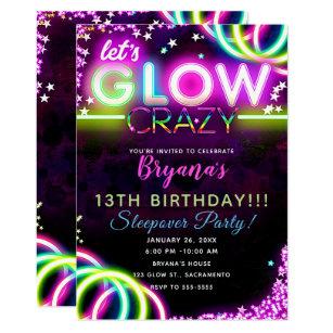 neon invitations zazzle