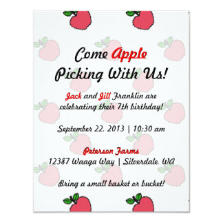 Let's Go Apple Picking! Invitation