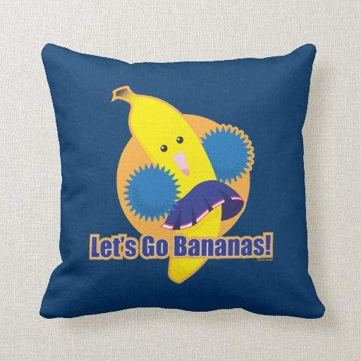 Let's Go Bananas! Throw Pillow