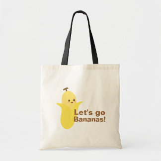 Let's go Bananas with this cute and happy banana Tote Bag
