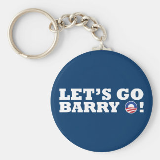 Let's go Barry O! Obama Keychain