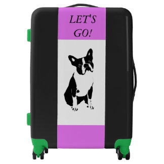 LET'S GO BOSTON TERRIER LOVER TRAVEL CASE-LUGGAGE LUGGAGE