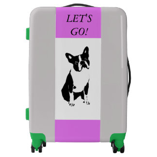 LET'S GO BOSTON TERRIER LOVER TRAVEL CASE-LUGGARE LUGGAGE