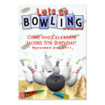Let's Go Bowling Birthday Party 5x7 Paper Invitation Card