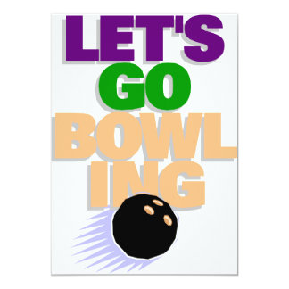 Let's go bowling card