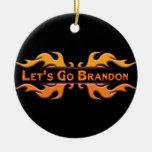 Let's Go Brandon Ceramic Ornament