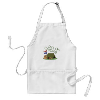 Lets Go Camping Standard Apron