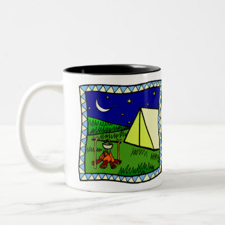 LET'S GO CAMPING Two-Tone COFFEE MUG