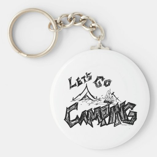 Let's Go Camping Outdoor Design Keychains
