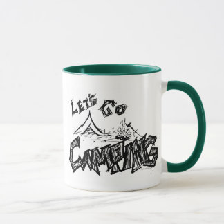 Let's Go Camping Outdoor Design Mug