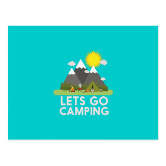 Lets go Camping Postcard