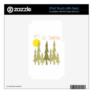 Lets Go Camping iPod Touch 4G Skin