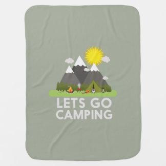 Lets go Camping Stroller Blanket