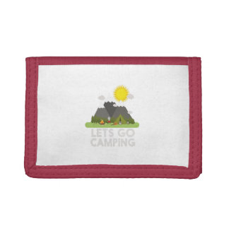 Lets go Camping Tri-fold Wallet