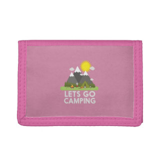 Lets go Camping Trifold Wallet