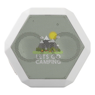 Lets go Camping White Bluetooth Speaker