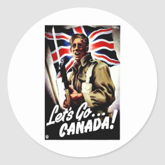 Let's Go.. Canada Classic Round Sticker