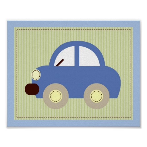 Nursery Wall Decor Transportation : Let s go car transportation nursery wall art print zazzle