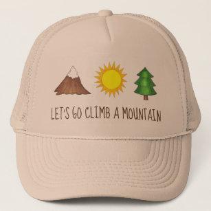 42557274bc100b Let's Go Climb a Mountain Pine Tree Sun Camp Trucker Hat