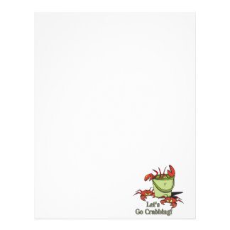 lets go crabbing bucket of crabs graphic personalized letterhead