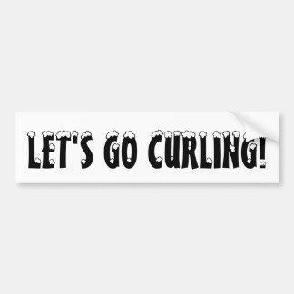 LET'S GO CURLING! Bumber Sticker Car Bumper Sticker