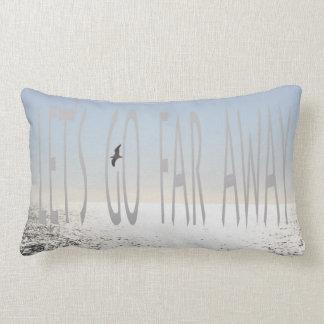let's go far away lumbar pillow
