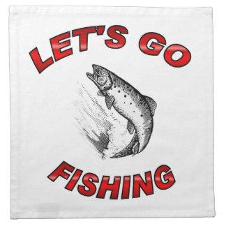Lets go fishing American MoJo Napkin