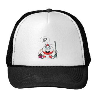 Lets go fishing bobber trucker hat