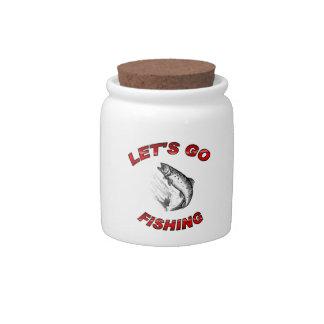 Lets go fishing Candy Jar 10oz.