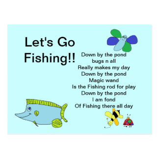 Let's go Fishing Card with Poem