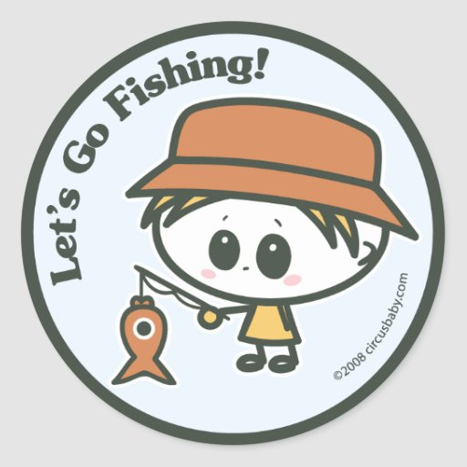 Let's Go Fishing Classic Round Sticker