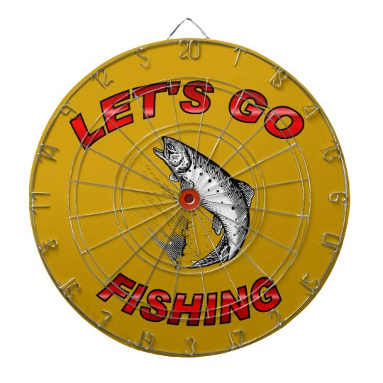 Lets go fishing dartboard with darts