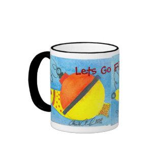 Lets Go Fishing Fun Fishing Bobber Mug