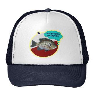Let's Go Fishing Grandson Trucker Hat