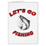 Lets go fishing greeting card