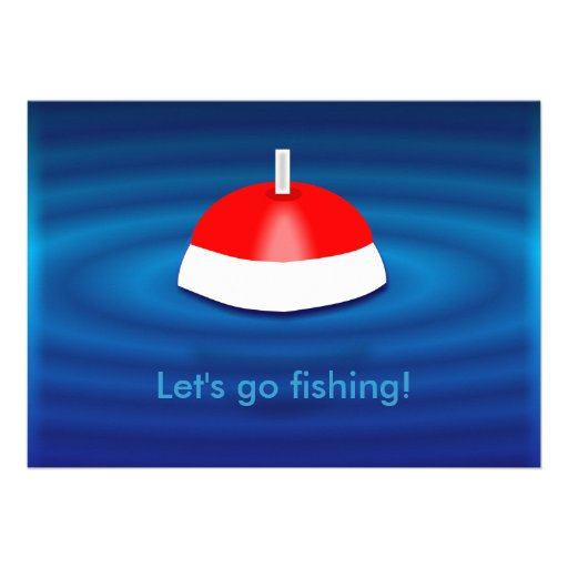 Let 39 s go fishing invitations 5 x 7 invitation card zazzle for Let s go fishing xl