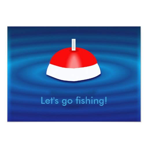 Let 39 s go fishing invitations zazzle for Lets go fishing