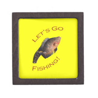 Let's Go Fishing Keepsake Box