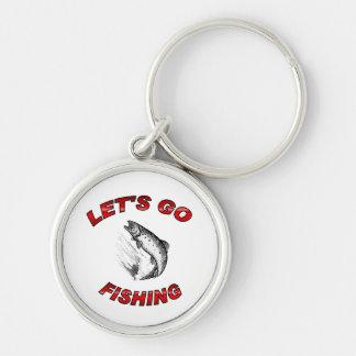 Lets go fishing keychain