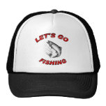 Lets go fishing mesh hat