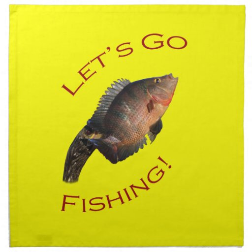 Let 39 s go fishing napkin zazzle for Lets go fishing