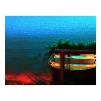 Let's Go Fishing Postcard