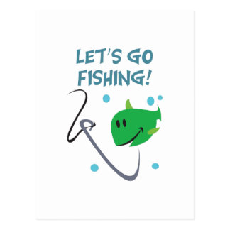 Lets go fishing postcards zazzle for Lets go fishing