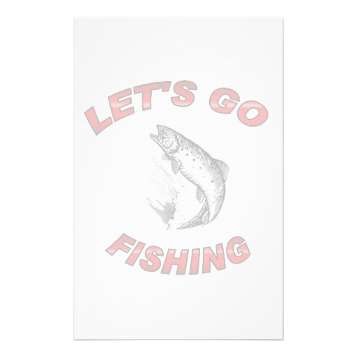 Lets go fishing stationery zazzle for Let s go fishing xl